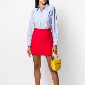 NWT GANNI Blue & White Stripe Classic Poplin Shirt